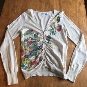 Anthropologie Floral Cardigan